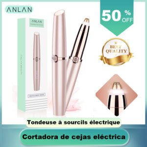 ANLAN Electric Eyebrow Trimmer Makeup Painless Eye Brow Epilator Mini Shaver Razors Portable Facial Hair Remover Women depilator 1