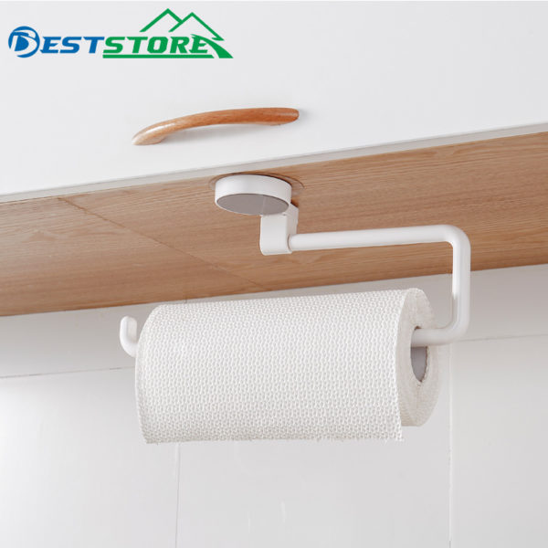 Kitchen Paper Holder Sticke Rack Roll Holder for Bathroom Towel Rack Estanterias Pared Decoracion Tissue Shelf Organizer