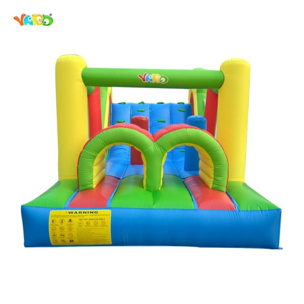 YARD Giant Inflatable Bouncy Castle Jumping Bounce House With Large Slide Large Trampoline Inflatable Bouncer Obstacle Slides 1