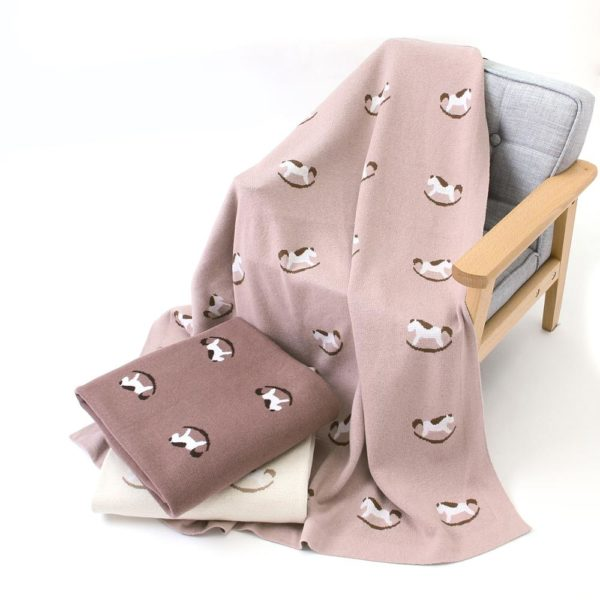 Baby Blankets Knitted Newborns Swaddle Wrap Blanket 100%Cotton Soft Warm Newborn Infant Stroller Sleepsacks Accessories 100*80cm 1
