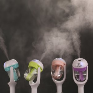 Auto Mini Car Steam Humidifier Air Purifier Aroma Aromatherapy Essential Oil Diffuser Mist Maker Fogger Green Pink Blue Purple 1